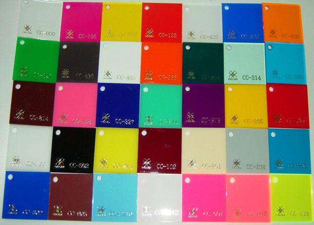 bảng mã màu tấm nhựa mica Đài Loan ChoChen