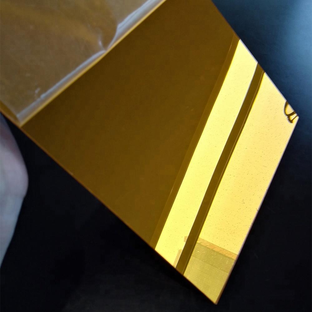 tấm nhựa mica Tráng gương vàng đồng