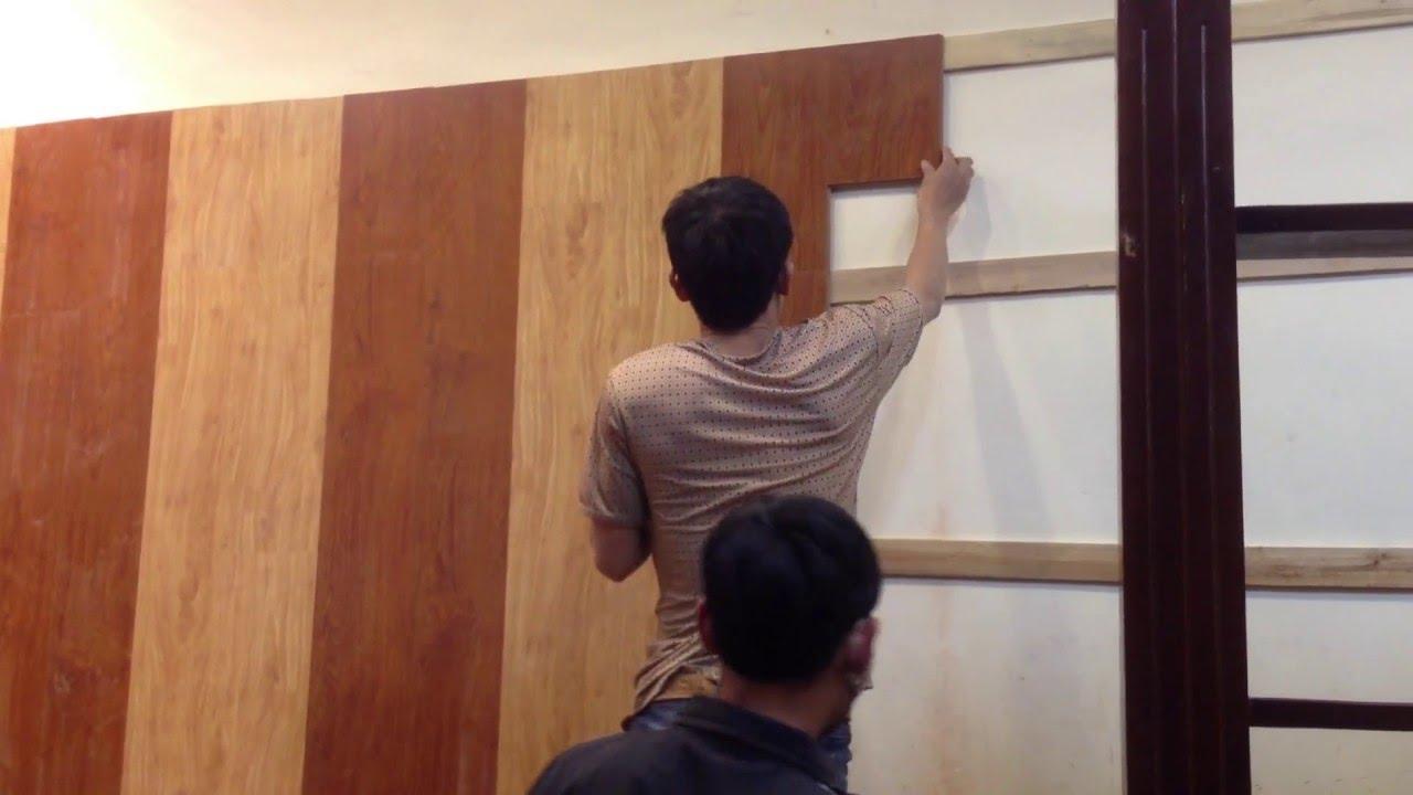 hướng dẫn thi công tấm nhựa pvc vân gỗ