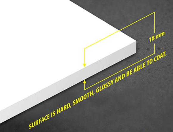 Tấm nhựa PVC foam Pima 18mm trắng