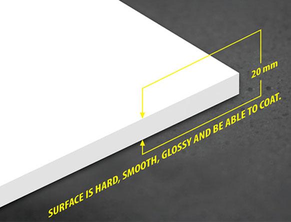 Tấm nhựa PVC foam Pima 20mm trắng