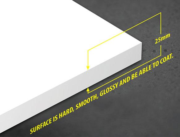 Tấm nhựa PVC foam Pima 25mm trắng