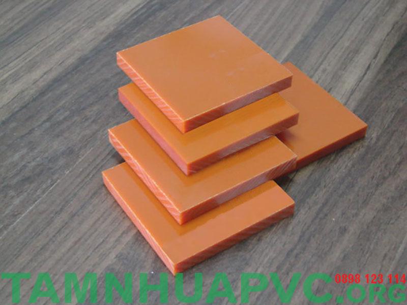tấm nhựa phíp màu cam