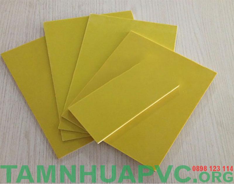 tấm nhựa phíp màu vàng